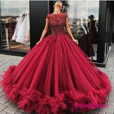 Long Floor Length ball gown quinceanera dresses Evening Dresses Glamorous Prom Dress Graduaction Dresses PD20188062