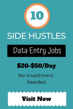 Data entry job is really a great side hustle to make an extra cash at home for moms, teens, and students. Visit the link to get 10 real data entry jobs that need no investment. Data entry job i Real Online Jobs, Online Data Entry Jobs, Online Jobs From Home, Work From Home Jobs, Jobs For Teens, Jobs For Teachers, Earn Money From Home, Earn Money Online, Make 100 A Day