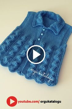 Let& learn together your own fashion accessories, basic and other creative points, techniques and tips to learn or develop the art of crochet and kni. Baby Knitting Patterns, Crochet Flower Patterns, Doily Patterns, Afghan Crochet Patterns, Knitting Designs, Baby Patterns, Knitting Videos, Easy Knitting, Baby Boy Vest