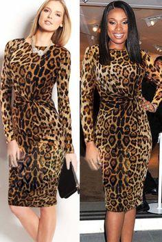 Leopard print pencil dress