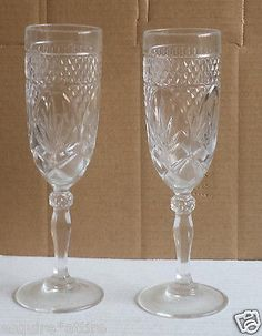 Set of 2 (two) #crystal Champagne flute glasses visit our ebay store at  http://stores.ebay.com/esquirestore