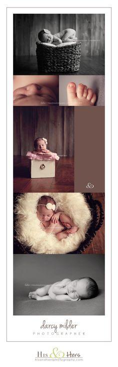 newborn session | Iowa Newborn Photographer, Darcy Milder | His & Hers