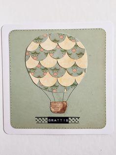 DIY hot air balloon birthday card