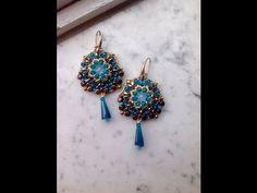 Tutorial orecchini Liberty (superduo O-beads cipollotti pellet) - YouTube