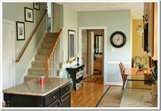 Light Blue/Green Gray  Sand & Sisal's Kitchen/Family Room – Sherwin Williams Comfort Gray