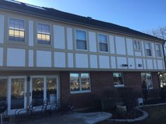 On this Tudor-style house located in Glenview, we installed #JamesHardie   stucco panels. Do you live in a Tudor-style house or condominium association in need or remodeling? Calls us first! #ProHome1   #MyNewRemodel #MyNewSiding   #StraightTalkHomeProud