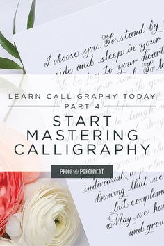 If you're ready to being mastering calligraphy check out the paths here to help you get to your specific calligraphy goals and have fun along the way! Calligraphy Course, Calligraphy Practice, Modern Calligraphy, Calligraphy Handwriting, Calligraphy Supplies, Silhouette Cameo Tutorials, Chalk Lettering, Wedding Envelopes, Creative Outlet