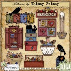 Prim Collection 4 - Whimsy Primsy Clip Art Download