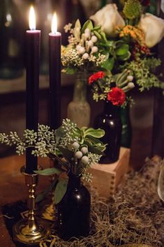 Black and red wedding decor | Ashley Gerrity Photography | see more on: http://burnettsboards.com/2014/10/gothic-wedding-ideas/