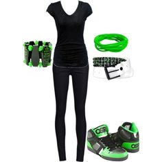 I don't think I've tried the black and green combo. Guess I have to cuz this is cool