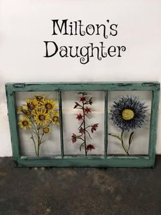 "Hand-painted vintage window embellished with ""Wild Flowers"" transfer. Local Pick Up only. Faux Flowers, Wild Flowers, Vintage Windows, Diy Painting, Painted Furniture, Decorative Boxes, Hand Painted, Frame, Floral"