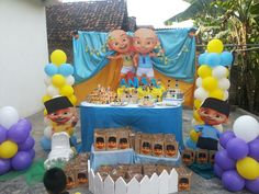 Upin ipin dessert table