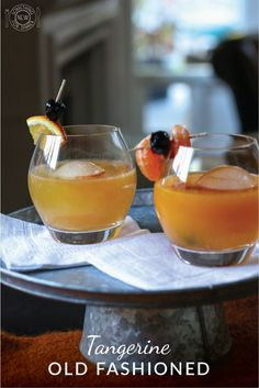 Tangerines make for a refreshing twist on what some consider to be the original cocktail - the Old-Fashioned. Get the recipe here as well as the interesting history behind what was once considered a breakfast drink.