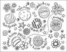 girl scout cookie coloring page totten totten corrales brown