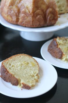 Pineapple Vanilla Bunt Cake with Pineapple Syrup
