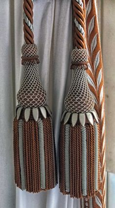 Curtain tassels x 2 in chocolate and cream at Versailles ©2013 blossomgraphicdesign.com