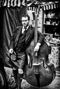 i dont know who this is but upright bass kilt pin stripped jacket 5 oclock shadow = wonderful Victor Hugo, Rock Roll, Sound Of Music, Music Is Life, Rockabilly Music, All About That Bass, Old Portraits, Men In Kilts, Double Bass