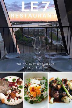 Dine at Le 7 Restaurant on the 7th floor of Bordeaux's La Cité du Vin for a gourmet experience with executive chef Bruno Grand-Clément.