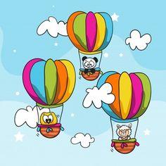 Outline Art, Balloon Animals, The Balloon, Pop Art, Stencils, Balloons, Scrap, Cute, Fictional Characters