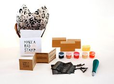 Make A Rad Stamp Kit by thisisground on Etsy, $34.99