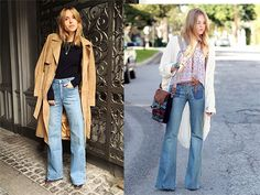Prendas de la temporada: front pocket flare jeans Chloe, Prada, Flare Jeans, Bell Bottoms, Bell Bottom Jeans, Duster Coat, Pants, Jackets, Outfits