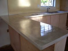 Kitchen : Concrete Countertops Poured Sink With Faucet Decorative Poured  Concrete Countertops Kitchen Ideasu201a Kitchen Countertopu201a Kitchen Table Sets  Along ...
