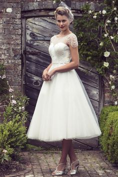 Brighton Belle Tea Length Wedding Dress | Violet