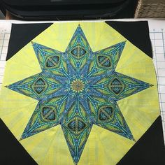 One of the beautiful finished blocks from the Parfait workshop. Star Blocks, Quilt Blocks, Parfait, Workshop, Student, Quilts, Photo And Video, Stars, Projects
