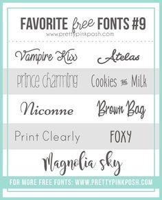 Pretty Pink Posh: Favorite Free Fonts 9