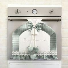 Kitchen Set with oven Cover, Fire Cover, Oven Glove, hood curly pot holders Kitchen Sets, Kitchen Towels, Handmade Crafts, Diy And Crafts, Refrigerator Covers, Kitchen Fabric, Radiator Cover, Sewing Appliques, Sewing Projects