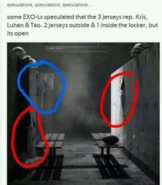 So the 2 jerseys outside (Kris&Luhan) who arldy left Exo but the one INSIDE the locker is Tao, is Tao ready ? Anw, will forever be ONE remember? The freaking feel guys Exo Ot12, Kaisoo, Chanbaek, Chanyeol Baekhyun, Xiuchen, Exo Memes, Kpop Exo, Over Dose, Vixx