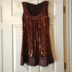Body central dress Brand new never worn cute chocolate brown sequin dress! body central Dresses