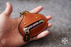 意大利植鞣Minerva Box 手工零钱包硬币包六沙原创321小柑橘 | Showbagnow