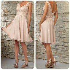 F24 sexy v neck knee length bridesmaid dresses, belt bridesmaid dress on sale, pink chiffon short prom dress evening dresses