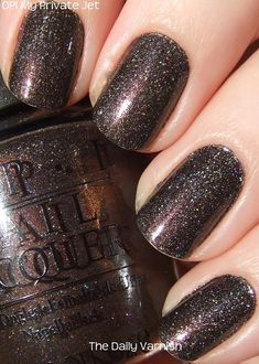 OPI - My Private Jet. LOVE this colour! Put a matte top coat on and it looks just like concrete!