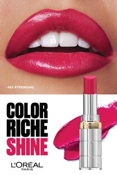 The new lipstick that ticks all your boxes? Discover Color Riche Shine, for statement shine, saturated colour and a  hydrating feel. #ShineOn