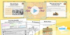 PlanIt History Great Fire London What Happened After Great Fire Fire London, Great Fire Of London, The Great Fire, Primary Resources, School Resources, Primary School, Lesson Plans, Curriculum, Year 2