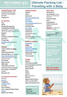 Ultimate Packing List for Travelling Abroad with your Baby - something to think about but... this is a lot of stuff!!!