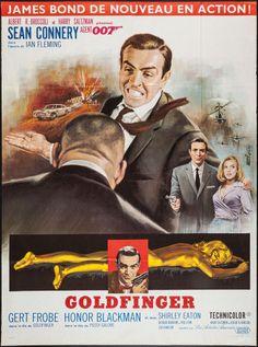 "Movie Posters:James Bond, Goldfinger (United Artists, R-1970s). French Grande (46"" X 62"").James Bond.. ... Image #1"