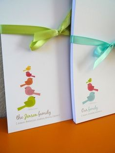 Personalized Bird Family Notepad by NOTESbyredletter on Etsy, $16.00