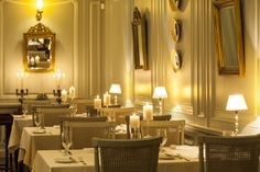 The Amade Gastronomy Slow Food, Pompadour, Restaurant Bar, Table Settings, Ceiling Lights, Traditional, Mansions, Luxury, Home Decor