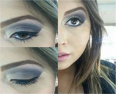 A @jessicazzi, do Beauty Team da NYX do Shopping ABC, chamou toda a atenção para os olhos, onde ela usou a paleta Gelato for Two (linha Love in Florence). Nos lábios, apenas o Mood Lip Gloss e a pele foi feita com os produtos da linha HD