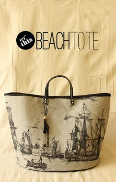 The perfect summer beach tote? Fabric Paper Glue | DIY Beach Tote by fabricpaperglue, via Flickr