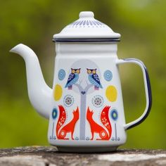Folklore Ceramic Coffee Pot - Day