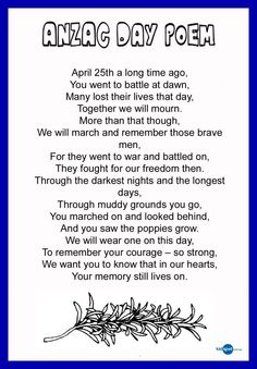 Pass a poem to one of our honoured diggers this ANZAC Day. For their battle and their courage in World War they deserve to be remembered and thanked. Anzac Day Quotes, Anzac Day Australia, Remembrance Day Activities, Remembrance Day Quotes, Poppy Craft, Great Poems, Melbourne, Sydney, Holiday Program