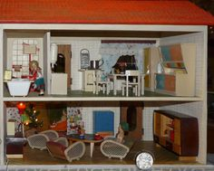 albin sch nherr puppenhaus puppenstuben vintage pinterest doll houses 1950s and dolls. Black Bedroom Furniture Sets. Home Design Ideas