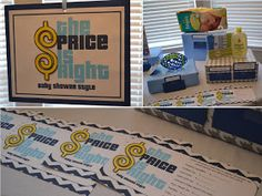 Details: Modern Boy Baby Shower - love the price is right game idea!