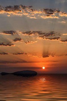 Sunset in Ibiza, Spain ~ Naplemente Ibizán, Spanyolország