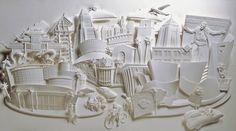 Jeff Nishinaka creates a city made of paper