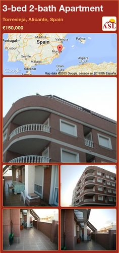 Apartment for Sale in Torrevieja, Alicante, Spain with 3 bedrooms, 2 bathrooms - A Spanish Life Apartments For Sale, Valencia, Independent Kitchen, Portugal, Torrevieja, Alicante Spain, Terrace, The Neighbourhood, Palmas
